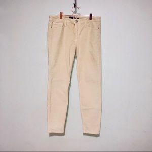 JOE'S JEANS skinny beige tan cords womens sz 30